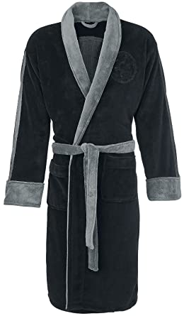 Official Star Wars Darth Vader Black Embossed Dressing Gown Bathrobe - One  Size dfd53923f