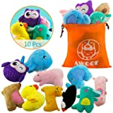 AWOOF Puppy Toys, 10 Pack Cute Puppy Plush Chew Squeaky Dog Toys for Boredom, Puppy Teething Toys for Medium to Small…