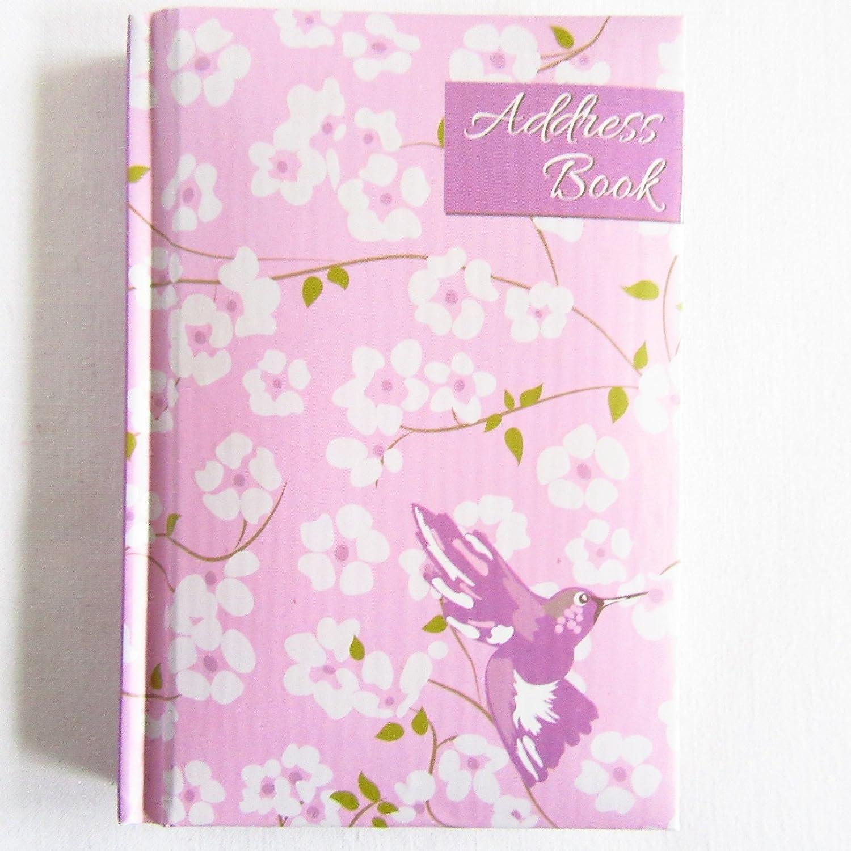 A-Z Address Book Padded Hardback Mini Pocket Hummingbird Tallon