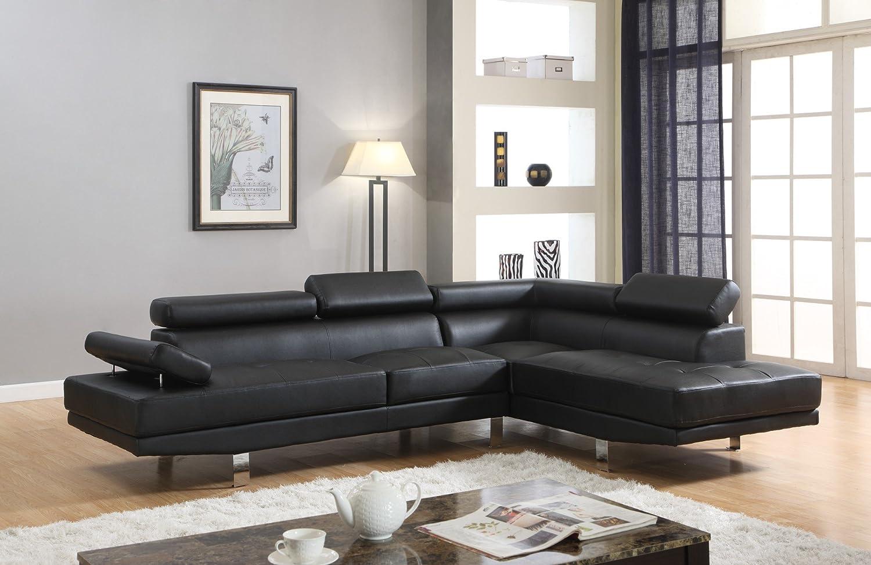 Amazon.com: Maison Furniture Faux Leather Sectional Sofa set ...