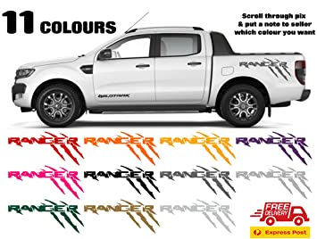 Ford Ranger Wildtrak 4x4 Vehicle Graphic X2 11 Colours To