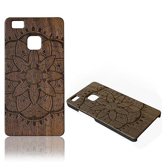 6 opinioni per Cover Huawei P9 Lite, Vandot Elegante Ultra Sottile Vero Legno Naturale Wood