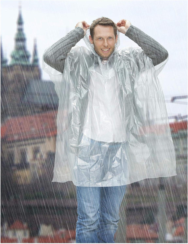 Outdoor Pacamac eBuyGB Pack of 8 Emergency Waterproof Rain Poncho Transparent