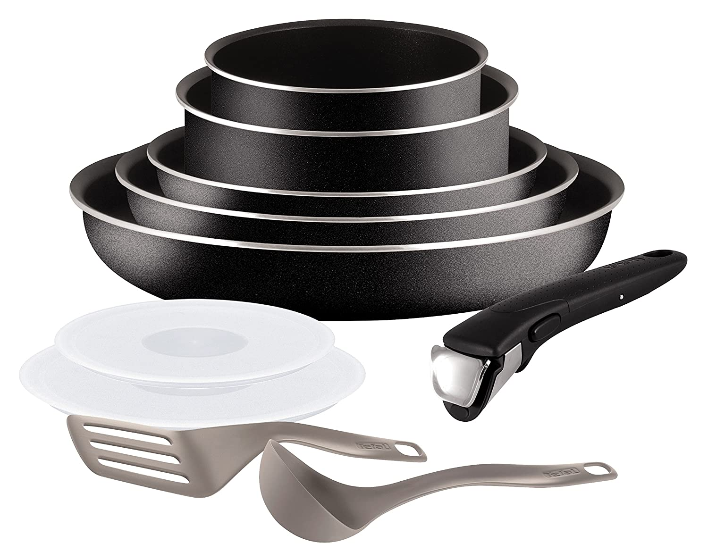 tefal ingenio set of frying pans and saucepans aluminium. Black Bedroom Furniture Sets. Home Design Ideas