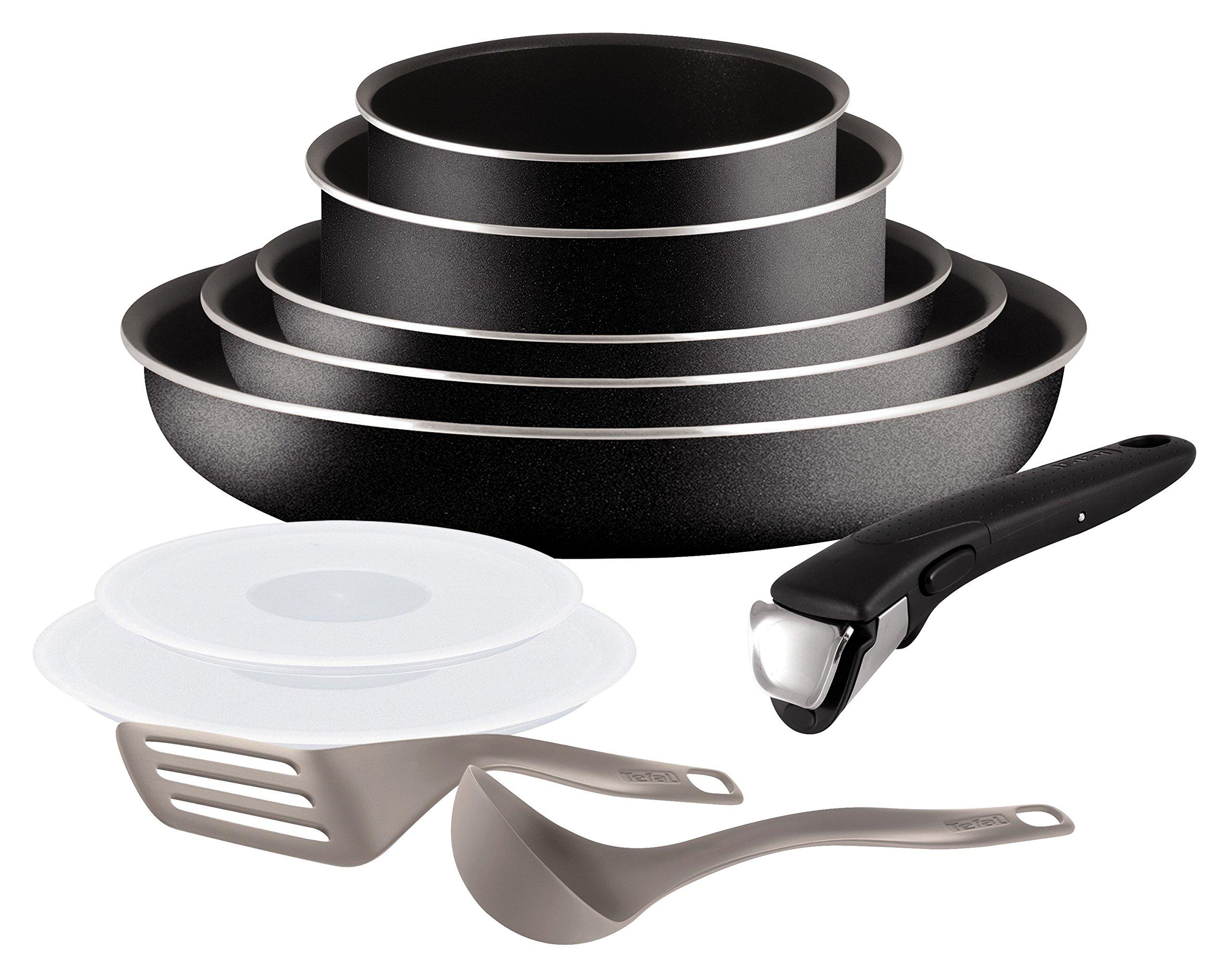 Tefal L2009802 Set de poêles et casseroles - Ingenio 5 Essential Noir Set 10 Pièces - Tous feux sauf induction product image