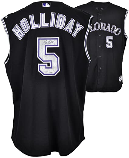 585fcab288b Matt Holliday Colorado Rockies Autographed Black Jersey Vest - Fanatics  Authentic Certified - Autographed MLB Jerseys at Amazon s Sports  Collectibles Store