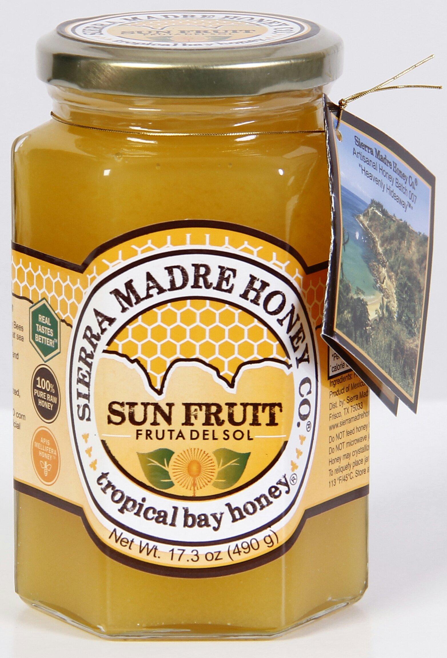 Sun Fruit ''Fruta del Sol'' Tropical Bay Honey 17.3 oz by Sierra Madre Honey Co.