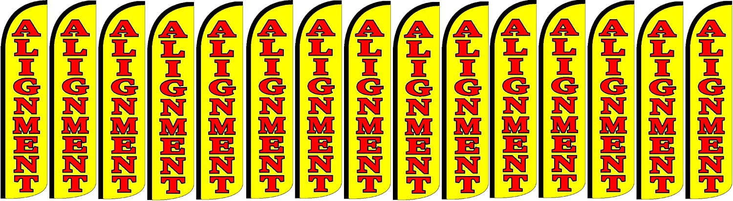 Alignment King Windless Feather Flag Sign Pack of 15 Hardware not Included