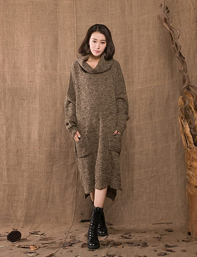 Pullover Winter Maxi Sweater Dresses Women | Oversized Sweater Dresses Women