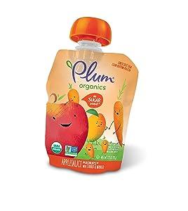 Plum Organics Mashups, Organic Kids Applesauce, Carrot & Mango, 3.17 Oz , 4 Count (Pack of 6)
