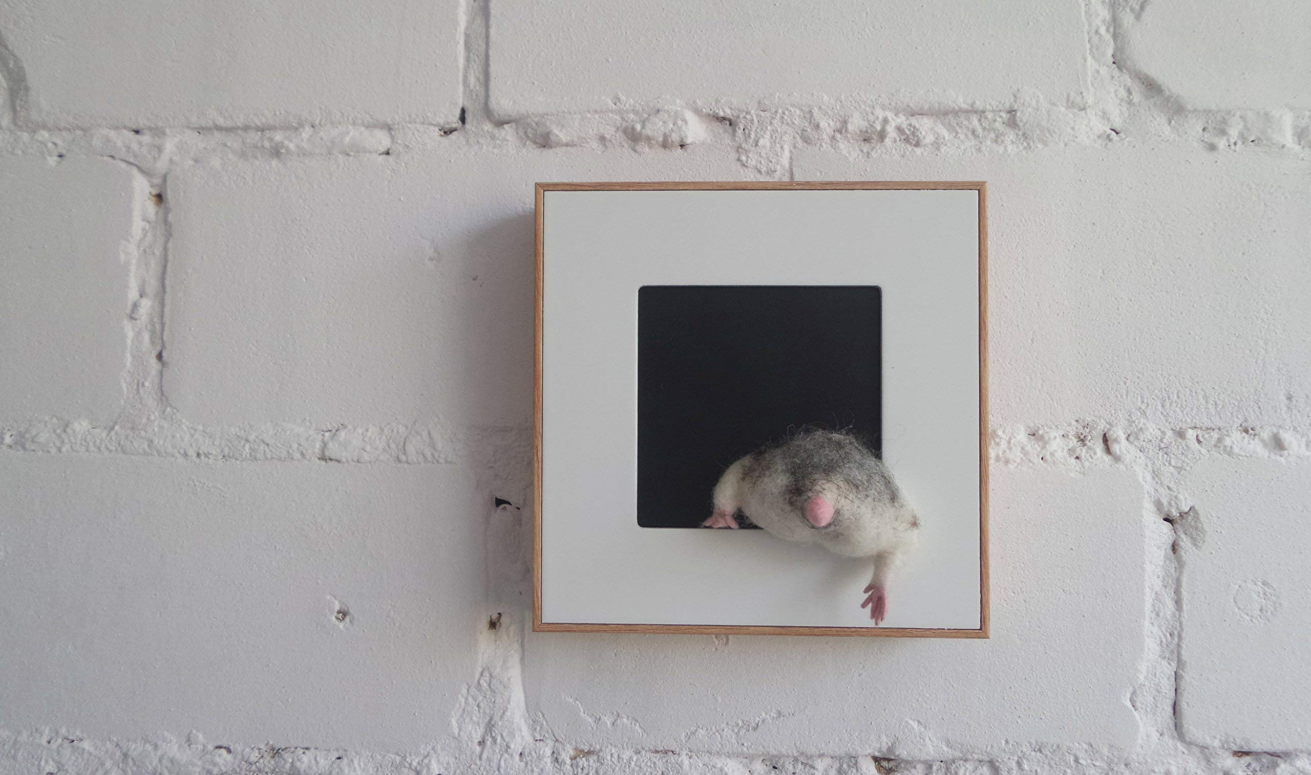 Hamster butts wall decor Felted gifts idea Funny gifts for the child who has everything