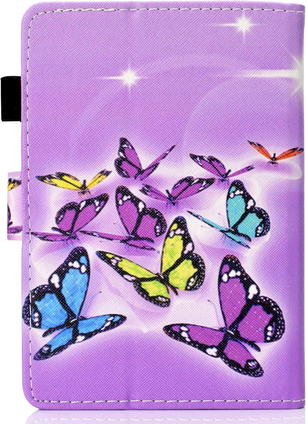 Felfy Kompatibel mit H/ülle  Kindle Paperwhite 2016 2015 2013 2012 Leder Flip Case Tasche Bunt Muster Tablet Klappst/änder mit St/änder Funktion Schutzh/ülle mit Automatischem Schlaf Funktion