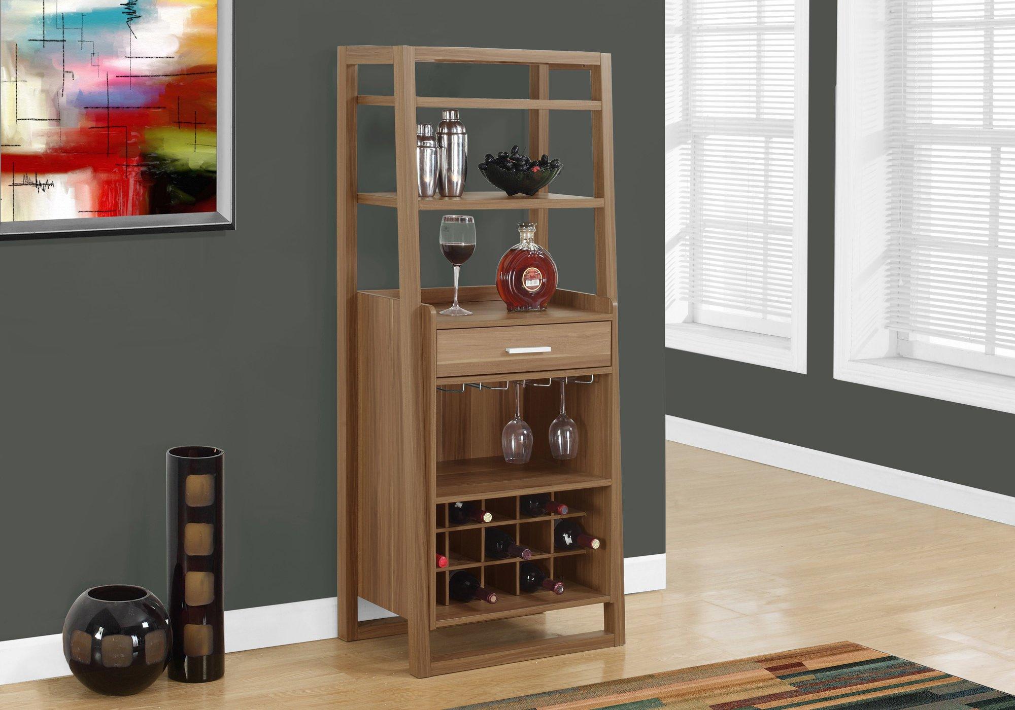Monarch Specialties I 2327, Home Bar, Ladder Style, Walnut, 60''H