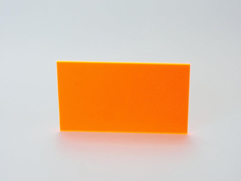 12 x 36 35/% Transparent 1//8 Thick 12 x 36 1//8 Thick HHC Falken Design FLUOR-OR9096-1-8//1236 Acrylic Fluorescent Orange Sheet