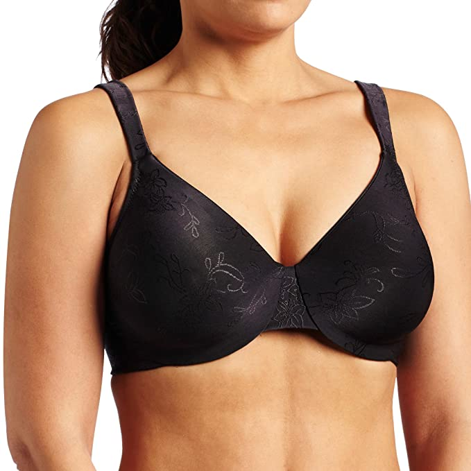 868682cc9d Lilyette by Bali Women s Dream Back Smoothing Jacquard Minimizer Bra  Amazon .in  Clothing   Accessories