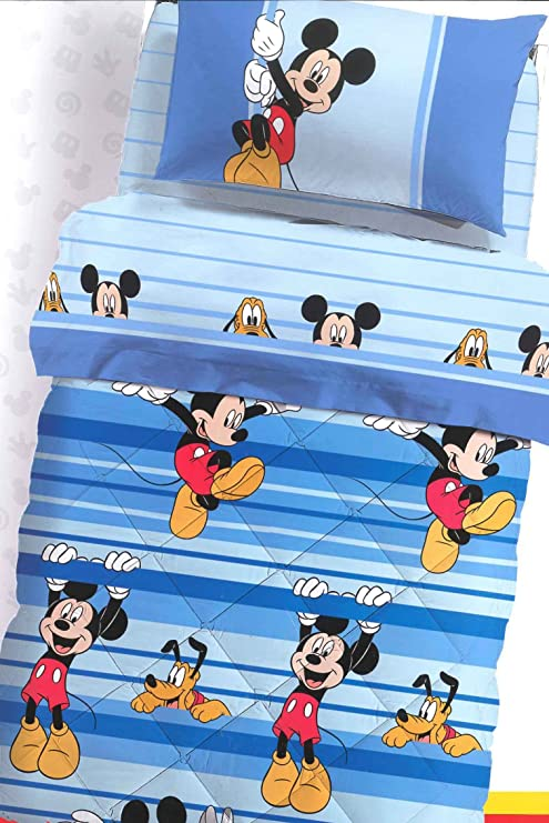 Piumone 1 Piazza E Mezza Disney.Trapunta Una Piazza E Mezza Mickey Gioco Disney Caleffi Mis 220x265 Cm