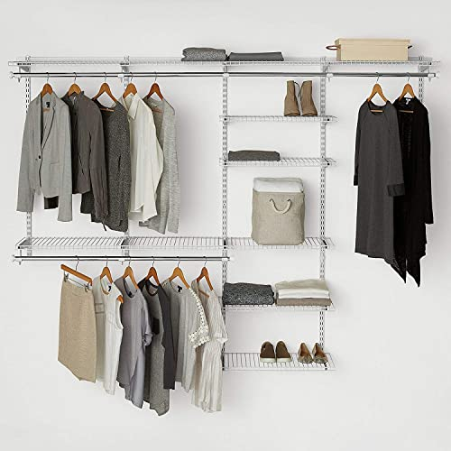 Rubbermaid Configurations Custom Closet Deluxe Kit, White, 4 8 Foot,  FG3H8900WHT