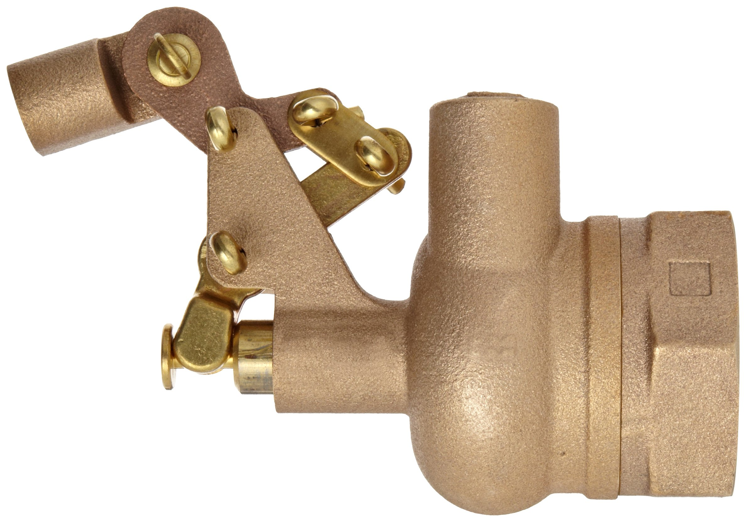 Robert Manufacturing RF610 Series Bob Red Brass Float Valve with Compound Operating Lever, 1-1/2'' NPT Female Inlet x Free Flow Outlet, 180 gpm at 85 psi Pressure by Robert Manufacturing (Image #2)