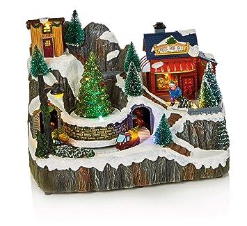 Life Is Good LED Musical Christmas Animated Traditional