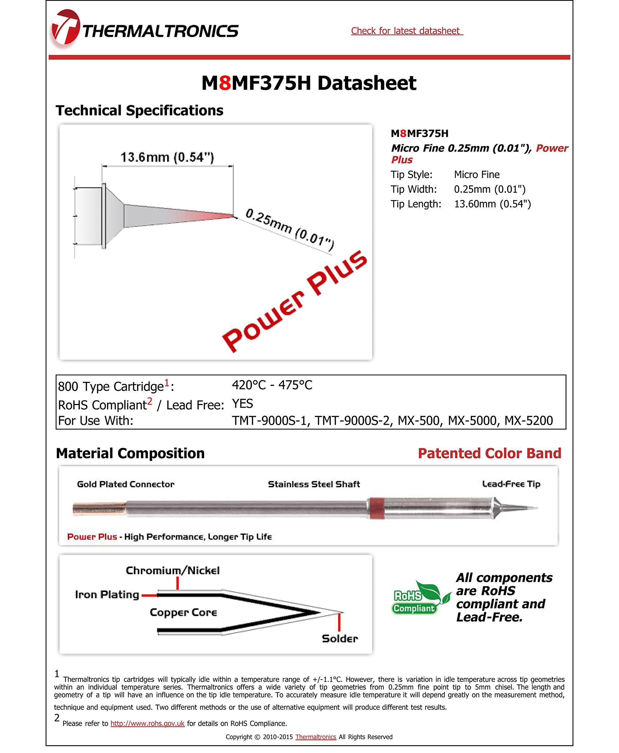 Thermaltronics M8MF375H Micro Fine 0.25mm (0.01''), Power Plus