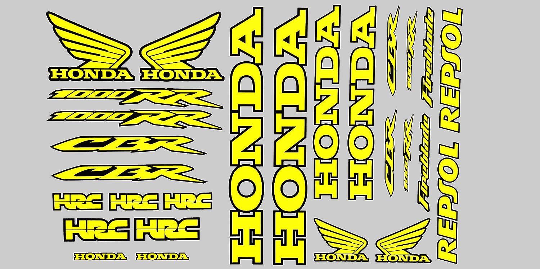 Fireblade 1000 Rr Fluo Gelb Schwarz Aufkleber Motorrad Graphics Kit X 27 Stück Auto