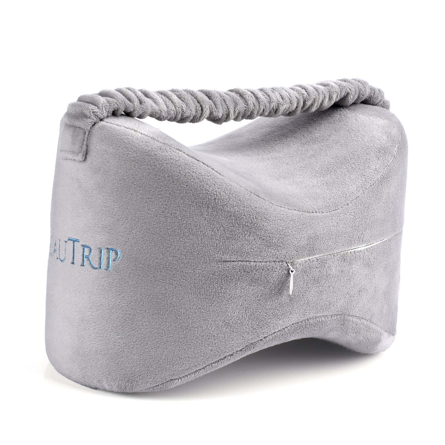 BEAUTRIP Knee Pillows for Side Sleepers Premium Memory Foam Wedge Contour Leg Pillow Cushions Support with Washable Cover for Sciatica Back Hip Joint Knee Pain Relief