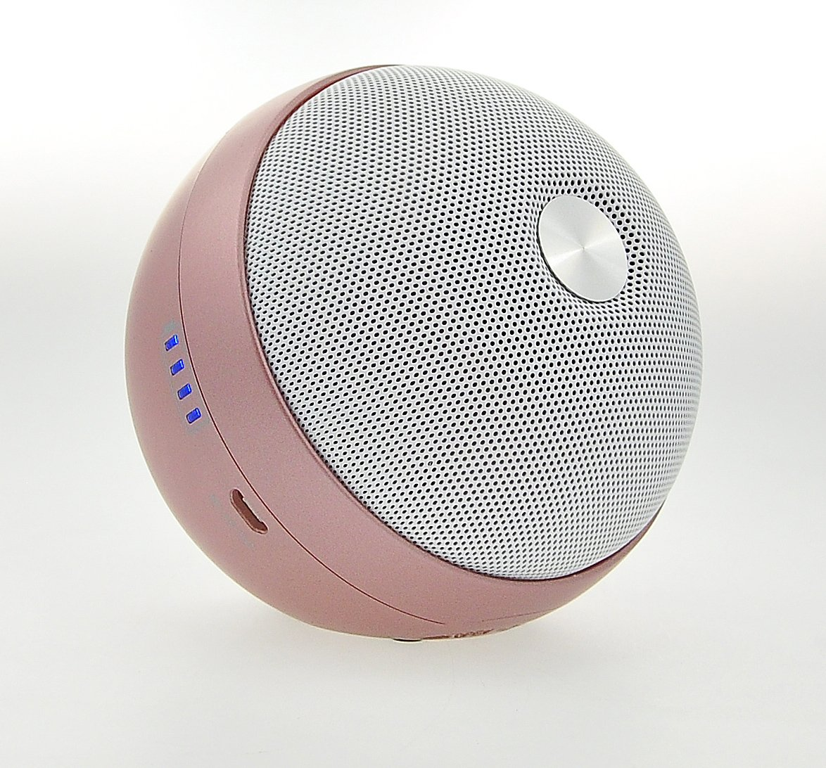Leting Portable Ball Shape 9W Bluetooth Wireless Speaker with Wireless USB Adapter for Connection to Computer and with Enhanced Bass Resonator (098 R-Golden)