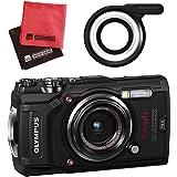 【セット】 OLYMPUS オリンパス コンパクトデジタルカメラ Tough TG-5 ブラック&SD16GB&LEDライトガイド&クロス