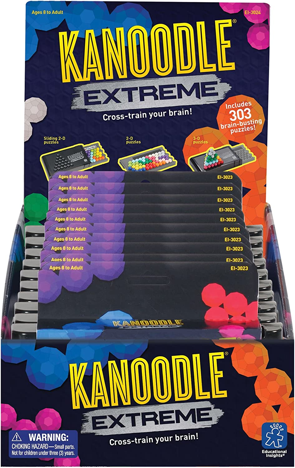 Educational Insights Kanoodle Extreme Party Pack of 10, Ages 8 and up, 303 Brain-tickling Puzzles