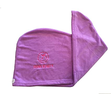 Iduna Beauty - Microfiber - Hair Drying Towel/Turban - Extra Large Wrap With Button