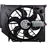 SCITOO Radiator Condenser Cooling Fan Engine Assembly Compatible with 1999 2001 2002 2003 2004 2005 BMW 323i 328i 320i 323i 325Ci 325i 325xi 330Ci 330i 330xi