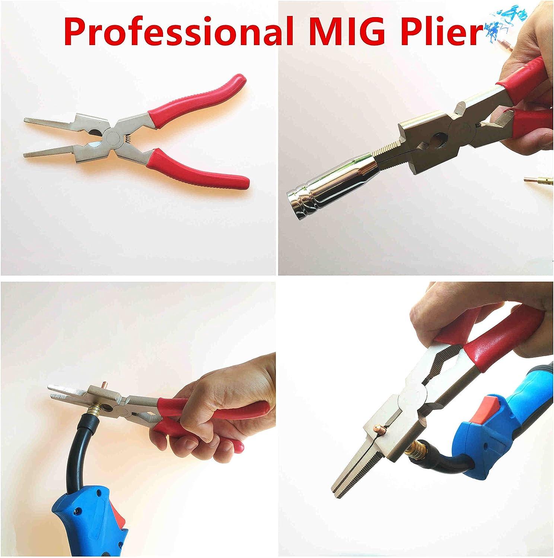pince Mig 8Pince multifonction de torche de soudage MIG pour le nettoyage de buse Pince de soudage professionnelle Version bleue