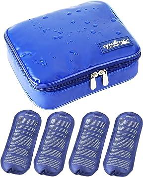 Nueva versión] Bolsa Isotermica Insulina ONEGenug Impermeable Bolsa Diabética Bolsas de frío y Calor Bolsa de jeringas para la diabetes, insulina y Medicamentos (L + 4 Bolsas de hielo): Amazon.es: Salud y