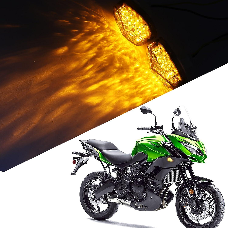 2pcs universal humo montaje empotrado LED Turn Indicador de ...