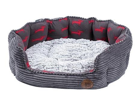 Amazon.com: Petface Deli cachorro perro Oval cesta Cama de ...
