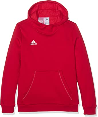 adidas Core 15 Plain Hoodie - Youth - Red -
