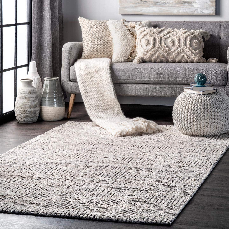 Nuloom Abigail Web Trellis Area Rug 7 6 X 9 6 Ivory Furniture Decor
