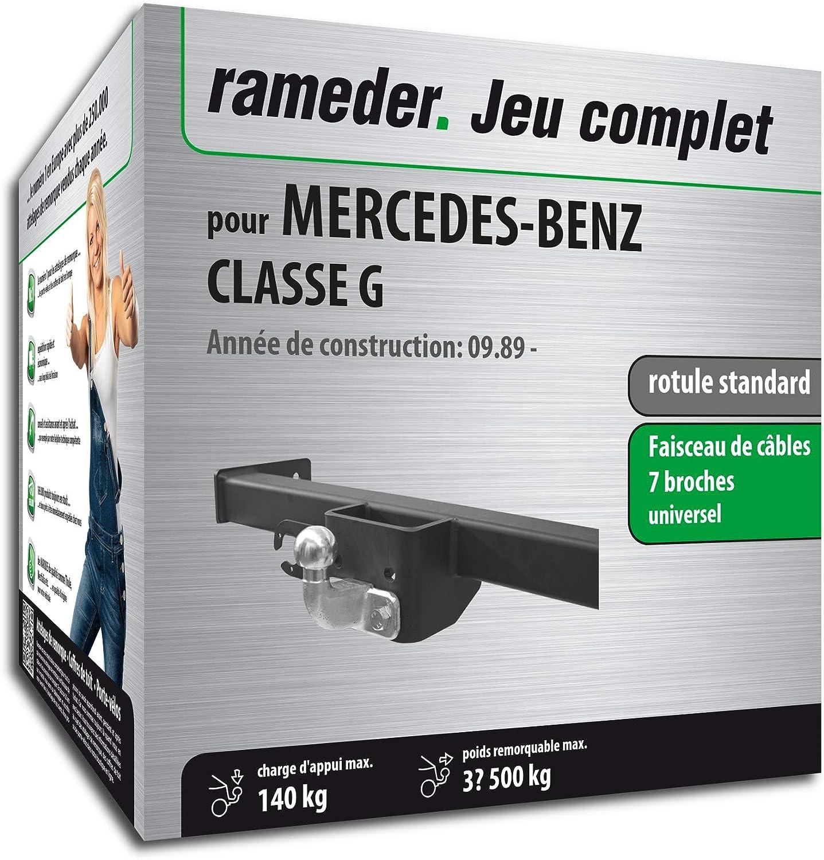 Rameder Pack attelage rotule Standard 2 Trous pour Mercedes-Benz Classe G + Faisceau électrique 7 Broches (129910-00065-2-FR)