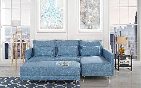 Tremendous Amazon Com Upholstered 88 1 Inch Sectional Sofa L Shape Dailytribune Chair Design For Home Dailytribuneorg