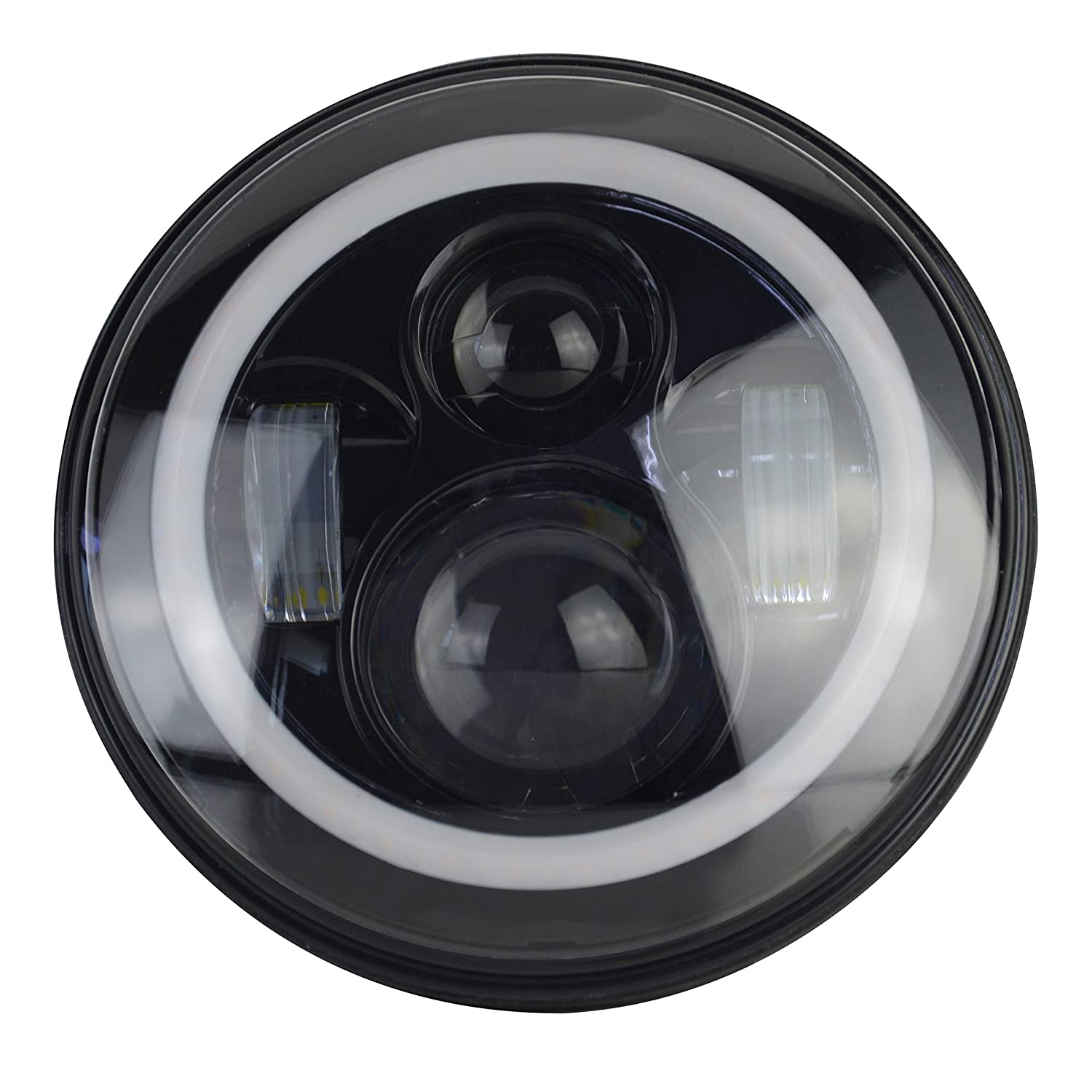 7 Quot Round Angel Eyes Halo Led Projector Headlight Set