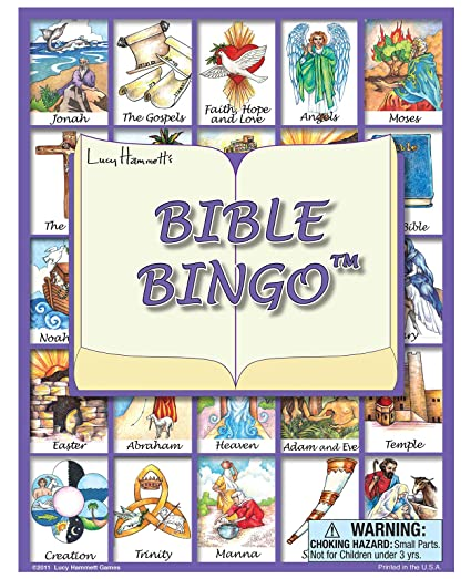 amazon com lucy hammett games bible bingo game toys games
