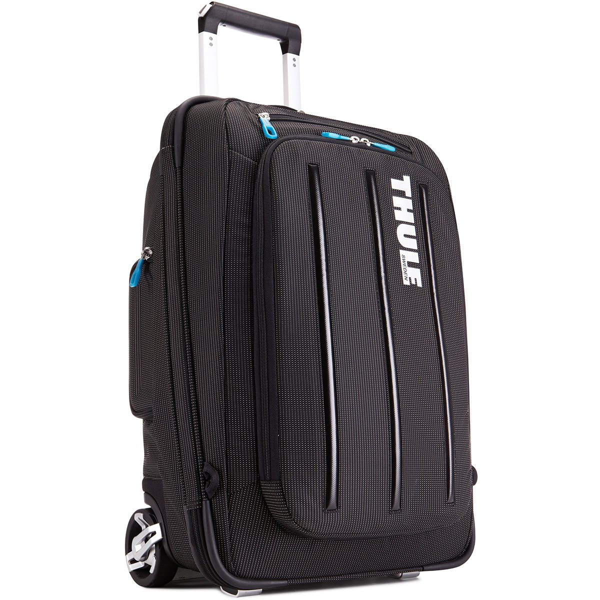 Thule Crossover 38 Liter Rolling Carry-On with Laptop Compartment, Black (TCRU-115)
