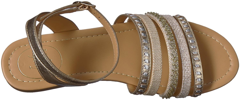 Jack Rogers Women's Hannah Flat Sandal B074XTGLT2 6 B(M) US Platino/Silver