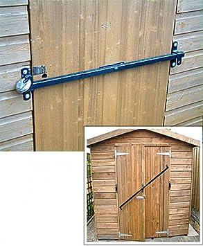 Cierre de seguridad para puerta de caseta de Jardín que se adapta de 1200 a 1800 mm de ancho : Amazon.es: Jardín