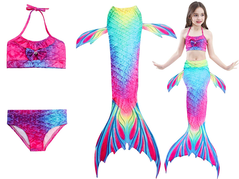 Mermaid Glitter Rainbow Tail Women/'s Swimsuit One Piece
