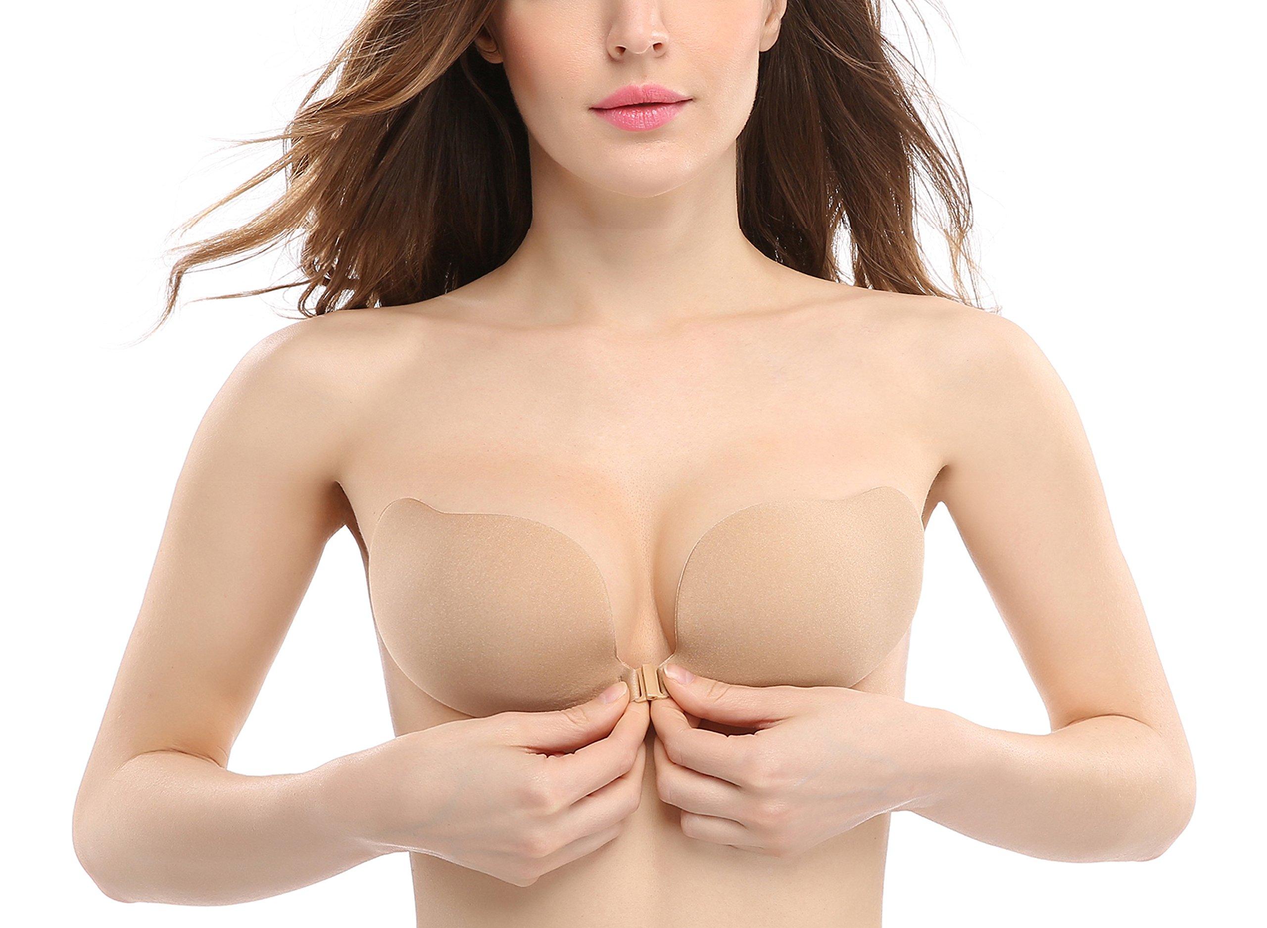 090a8d68e8 Deceny CB Invisible Bras Self Adhesive Bra Silicone Bra Push up Strapless  Bra (A