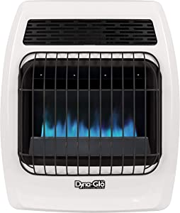 Dyna-Glo BFSS10NGT-2N 10,000 BTU Natural Gas Blue Flame Thermostatic Vent Free Wall Heater, White