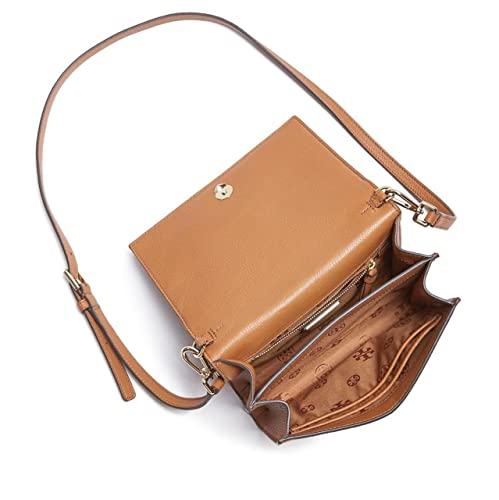 1a3654f1ba9c Amazon.com  Tory Burch Bombe T Combo Leather Cross Body Bag Women s Leather  Handbag (Bark)  Shoes