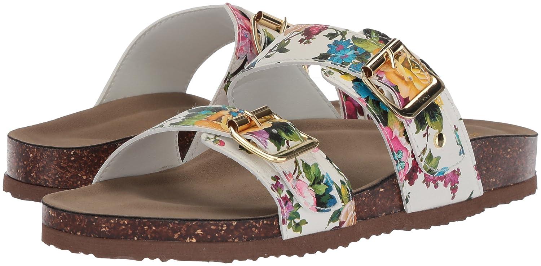aa2ab86a9538 Amazon.com | Madden Girl Women's Brando Slide Sandal, Pink/Multi, 10 M US |  Slides