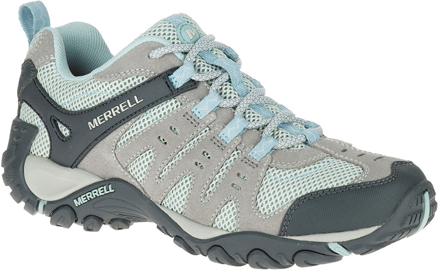 Merrell Women's Accentor Hiking Boot B07B9MP98S 7.5 B(M) US|Wild Dove/Cloud Blue
